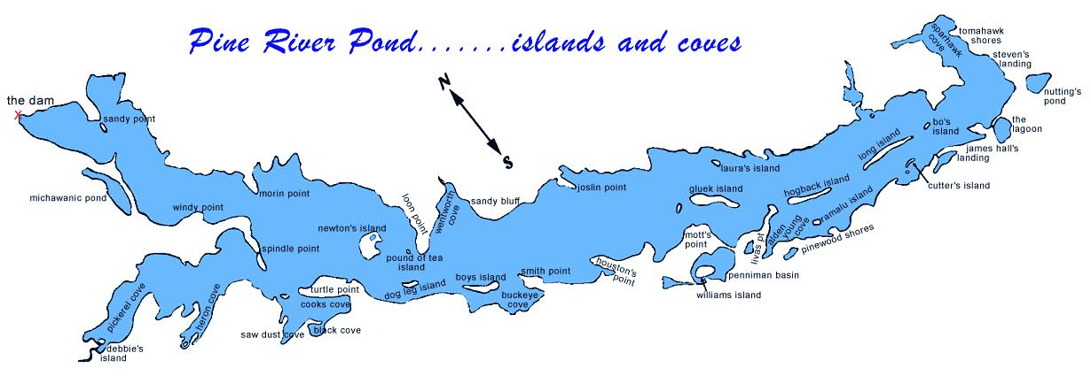 Pine River Pond Map